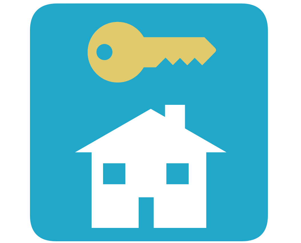 vector of house silhouette and key