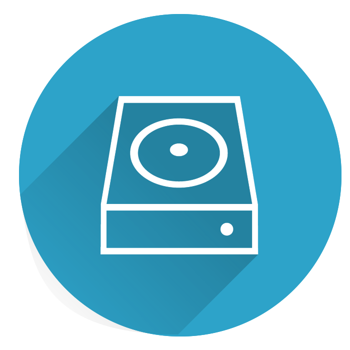 vector of storage box in a blue circle