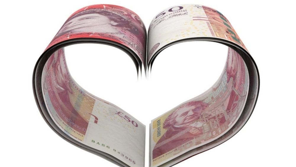 pound note in heart shape depicting good news for the SEISS grant