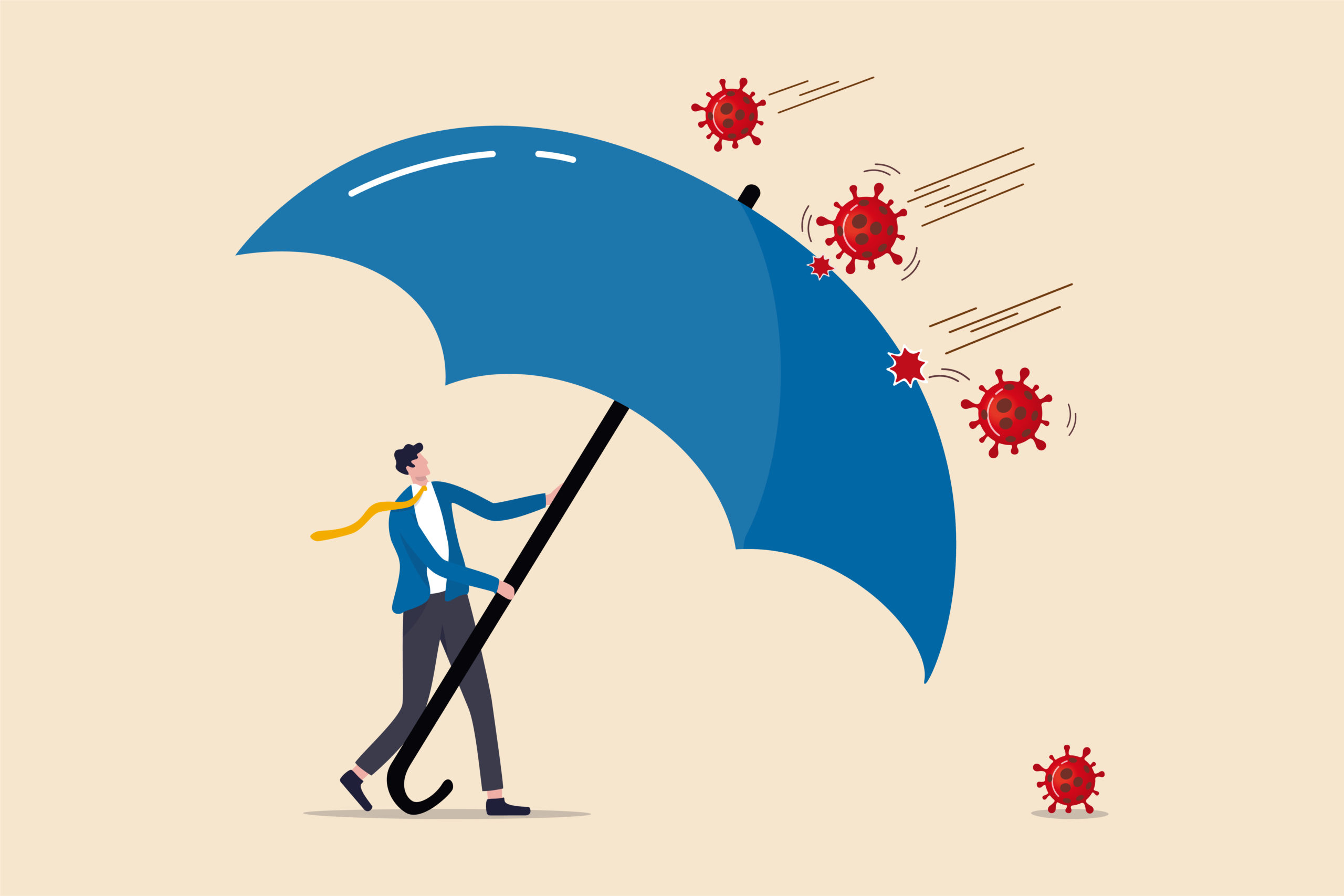 man holding umbrella depicting Further Economic Support announced