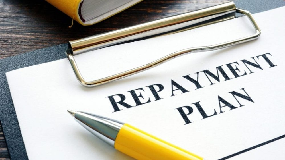 Replayment plan on table for if you are thinking of paying back your Bounce Back Loan