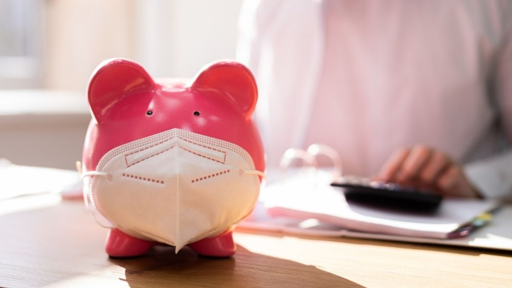 Piggy Bank With Face Mask Depicting New Guidance For SEISS Grant 5
